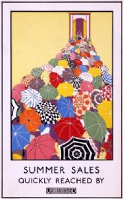 Vintage London underground poster - Summer sales